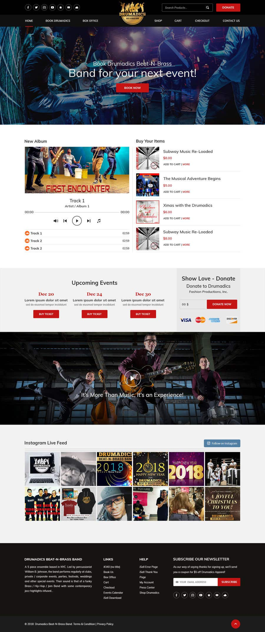 Bài tham dự cuộc thi #3 cho Independent Music Website/Store WordPress Theme Template Needed