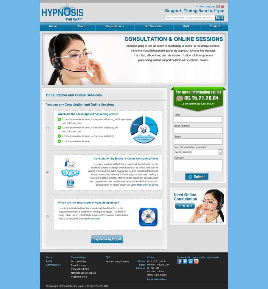 Kilpailutyö #                                        41                                      kilpailussa                                         Website Design for EMERGENCY HYPNOSIS