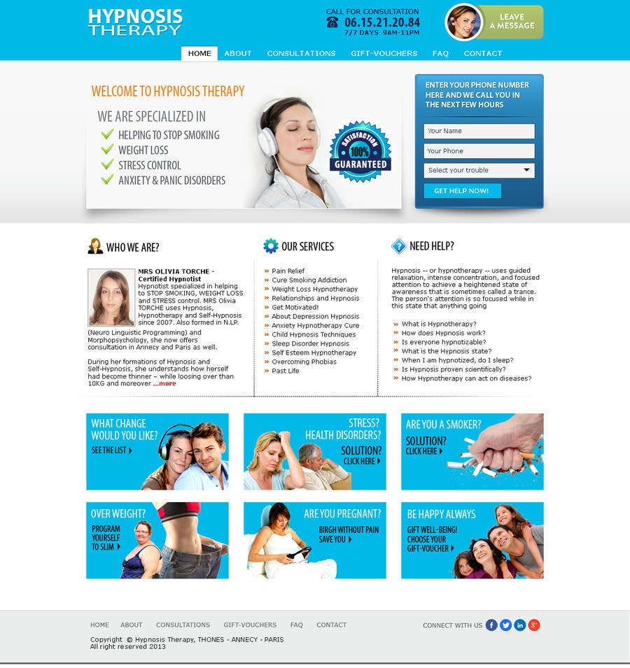 Entry #31 by shybkar for Website Design for EMERGENCY HYPNOSIS