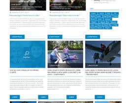 syrwebdevelopmen tarafından Design a Website Mockup for personal blog, landing page and blog page için no 5