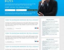 Ankur0312 tarafından Design a Website Mockup for personal blog, landing page and blog page için no 7