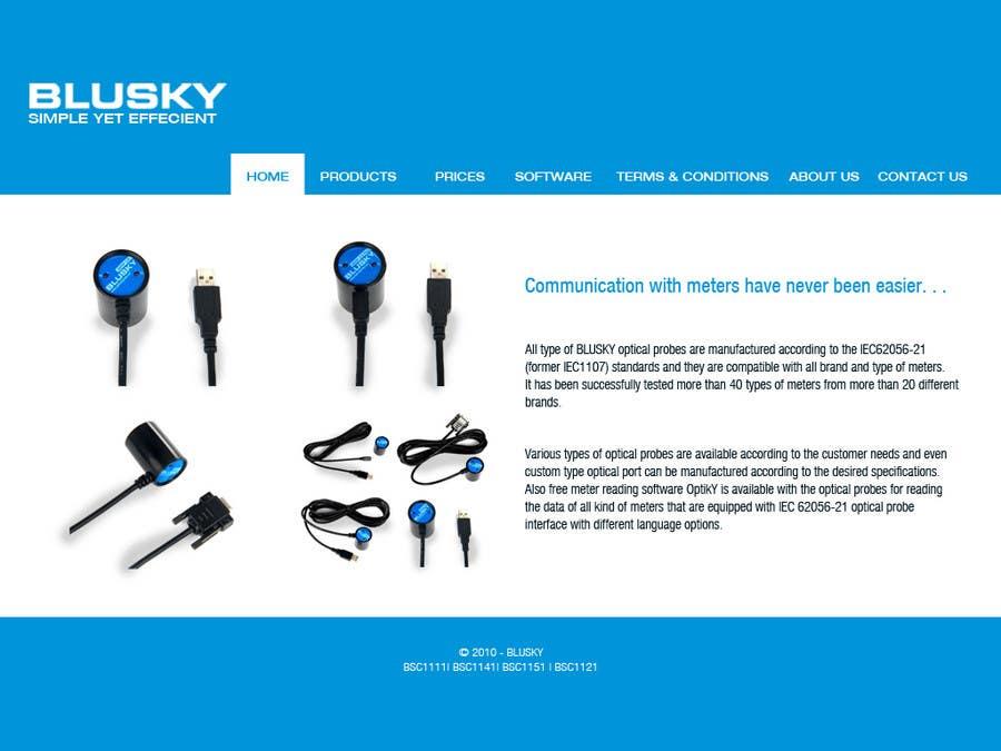 Конкурсная заявка №59 для Website Design for BLUSKY optical probes