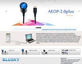 nº 109 pour Website Design for BLUSKY optical probes par Agilitron