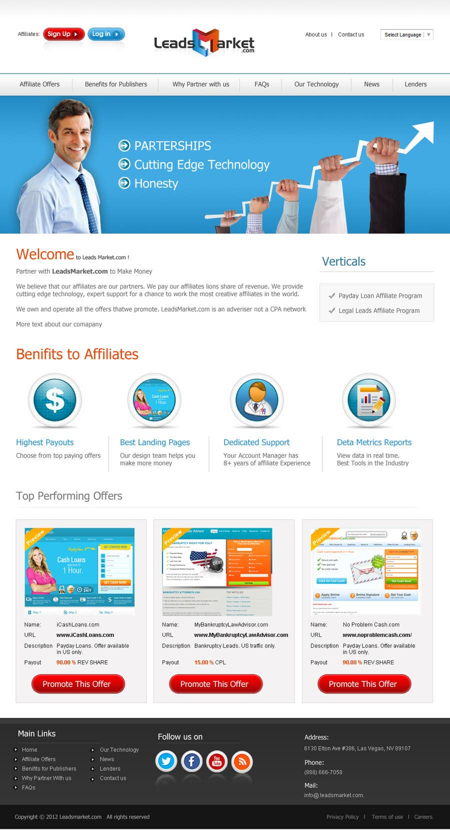 #75 for Website Design for LeadsMarket.com by cromasolutions