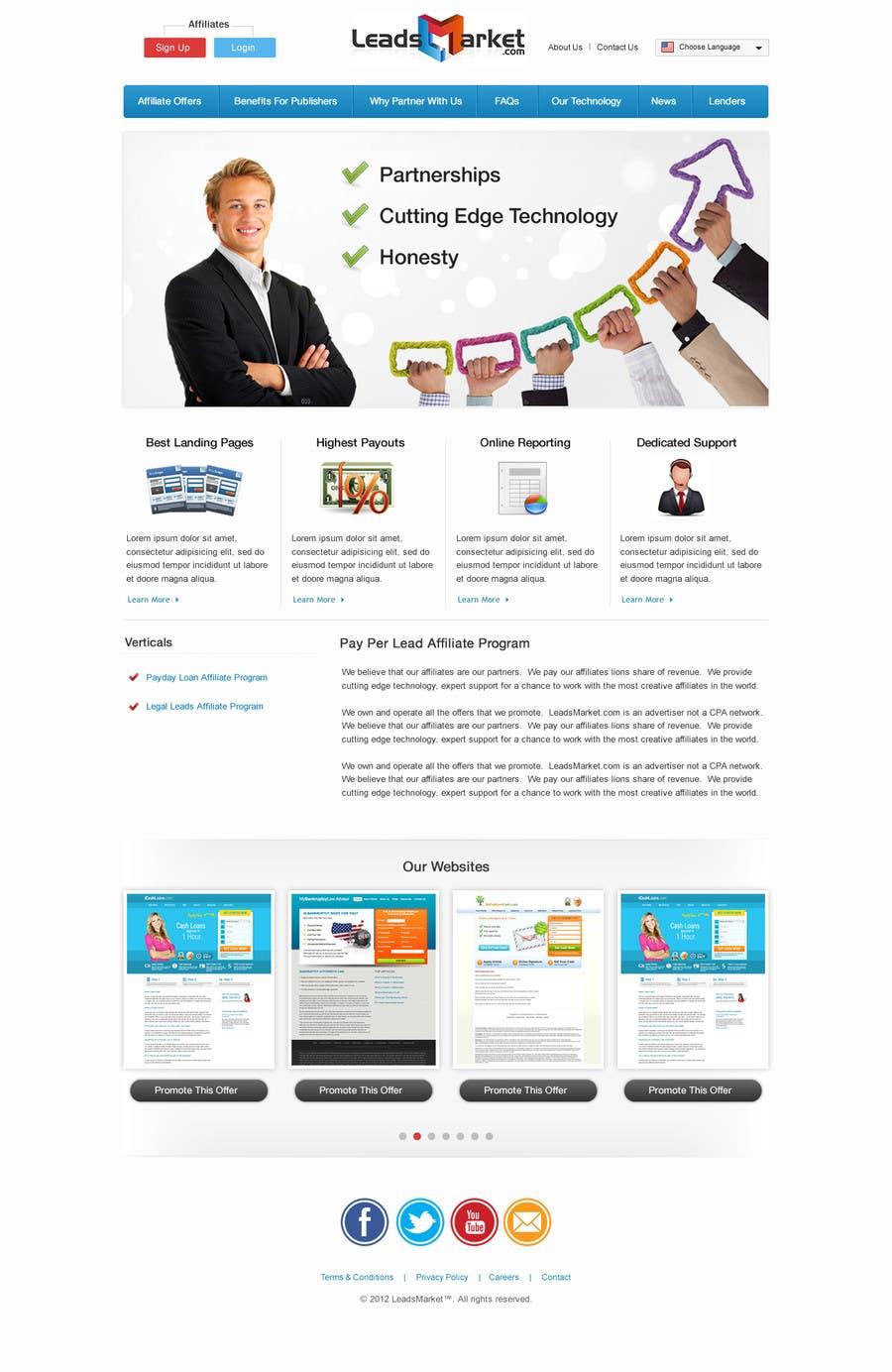 Konkurrenceindlæg #                                        60                                      for                                         Website Design for LeadsMarket.com