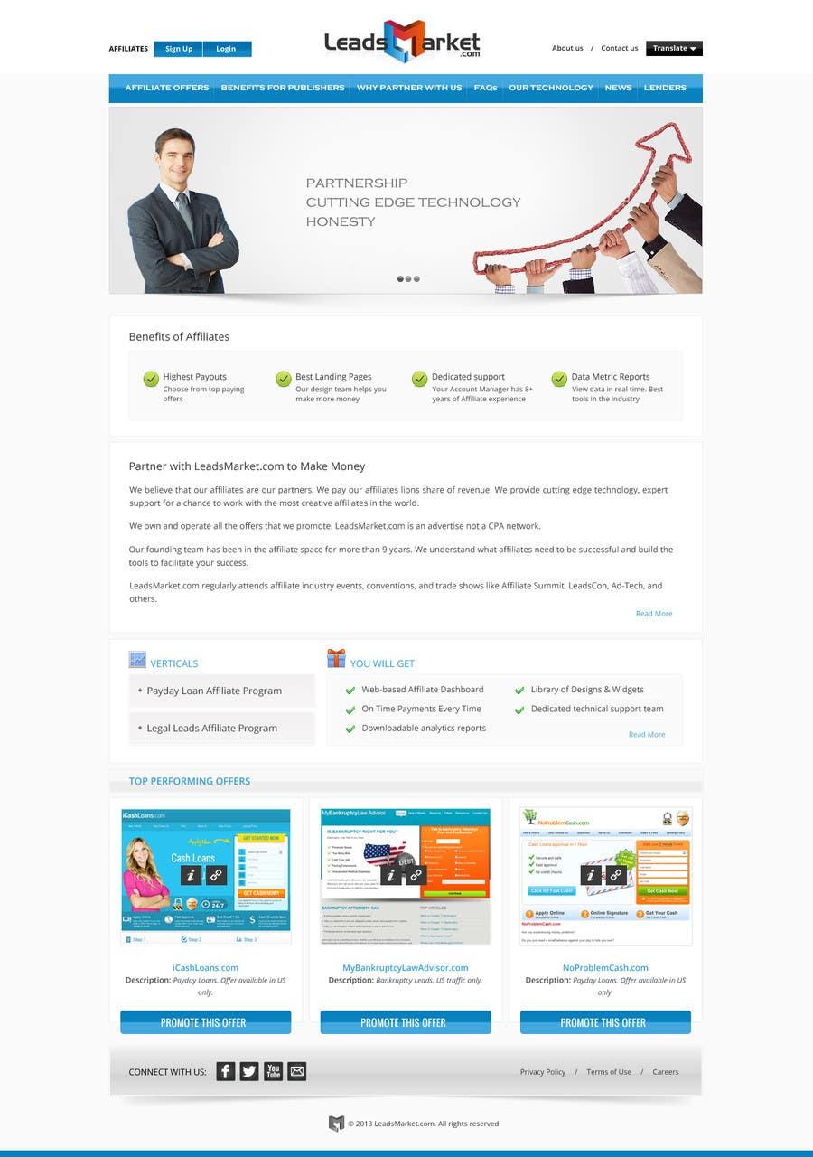 Konkurrenceindlæg #                                        68                                      for                                         Website Design for LeadsMarket.com