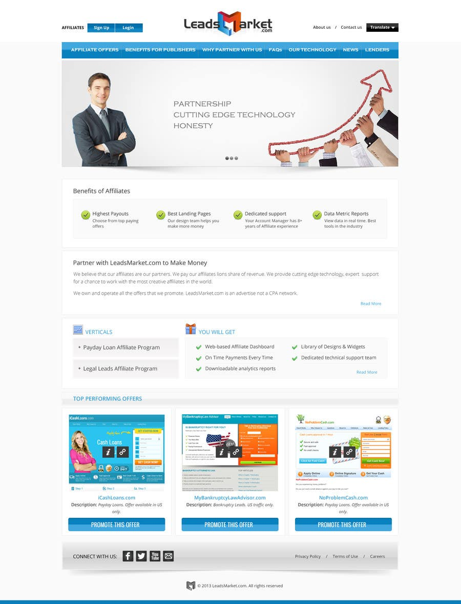 #70 for Website Design for LeadsMarket.com by Pavithranmm