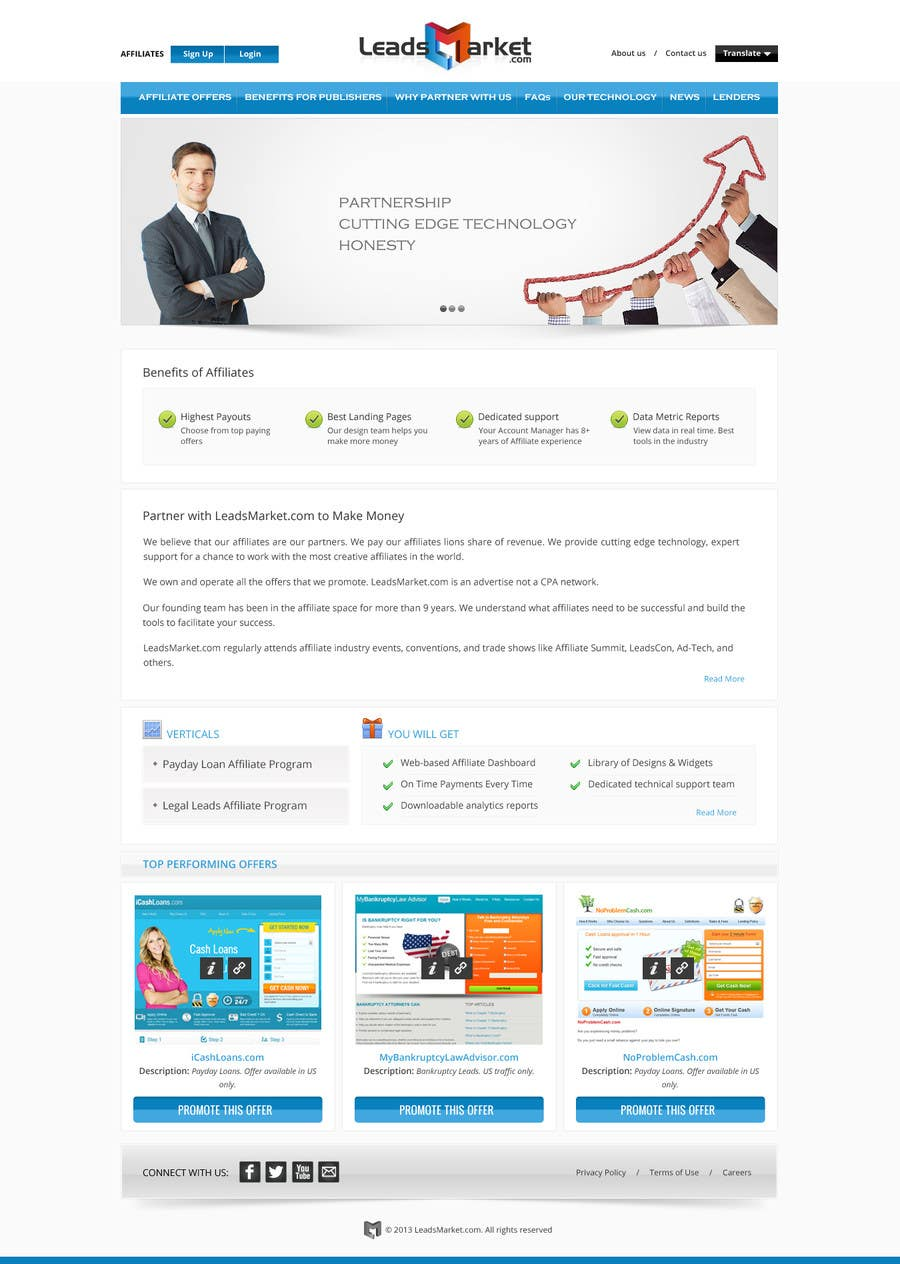 Konkurrenceindlæg #                                        69                                      for                                         Website Design for LeadsMarket.com