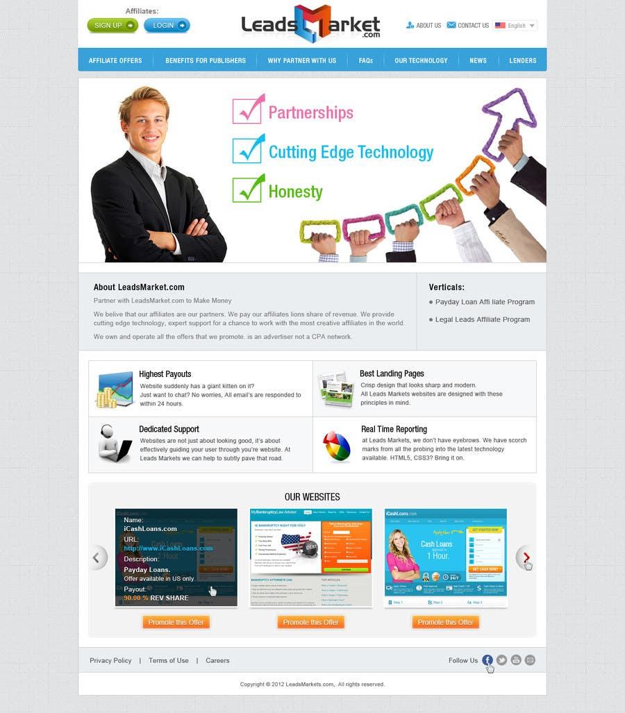 Inscrição nº                                         50                                      do Concurso para                                         Website Design for LeadsMarket.com