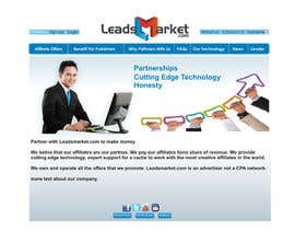 #64 cho Website Design for LeadsMarket.com bởi ezra66