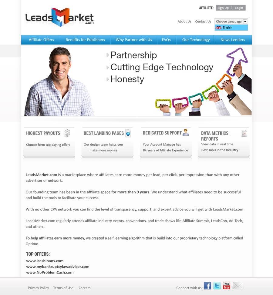 Konkurrenceindlæg #                                        54                                      for                                         Website Design for LeadsMarket.com