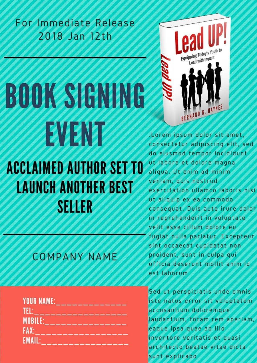 Contest Entry 14 For Press Release Book Signing Event