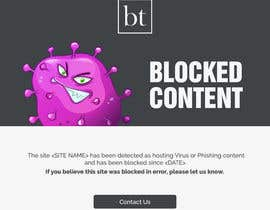 #15 untuk Single Page website, landing page for blocked internet content oleh xsodia