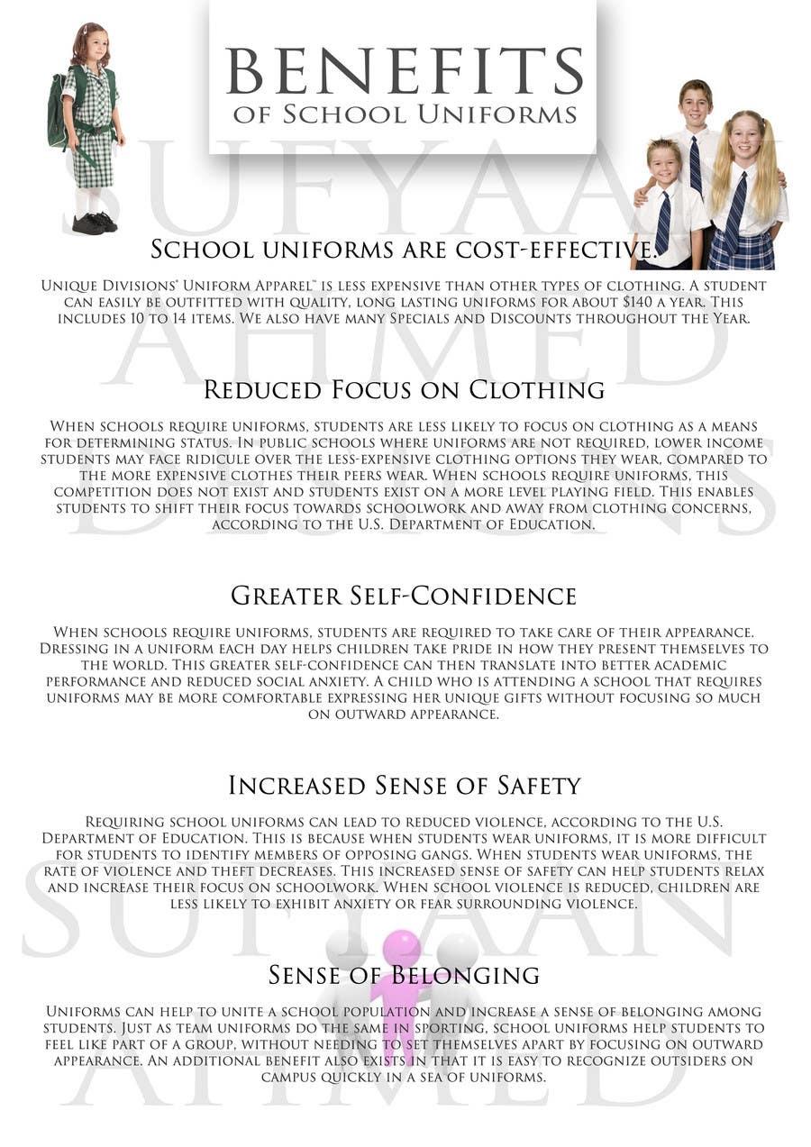 """Penyertaan Peraduan #                                        5                                      untuk                                         Design an Informational Flyer for School Uniforms 8.5""""x11"""""""