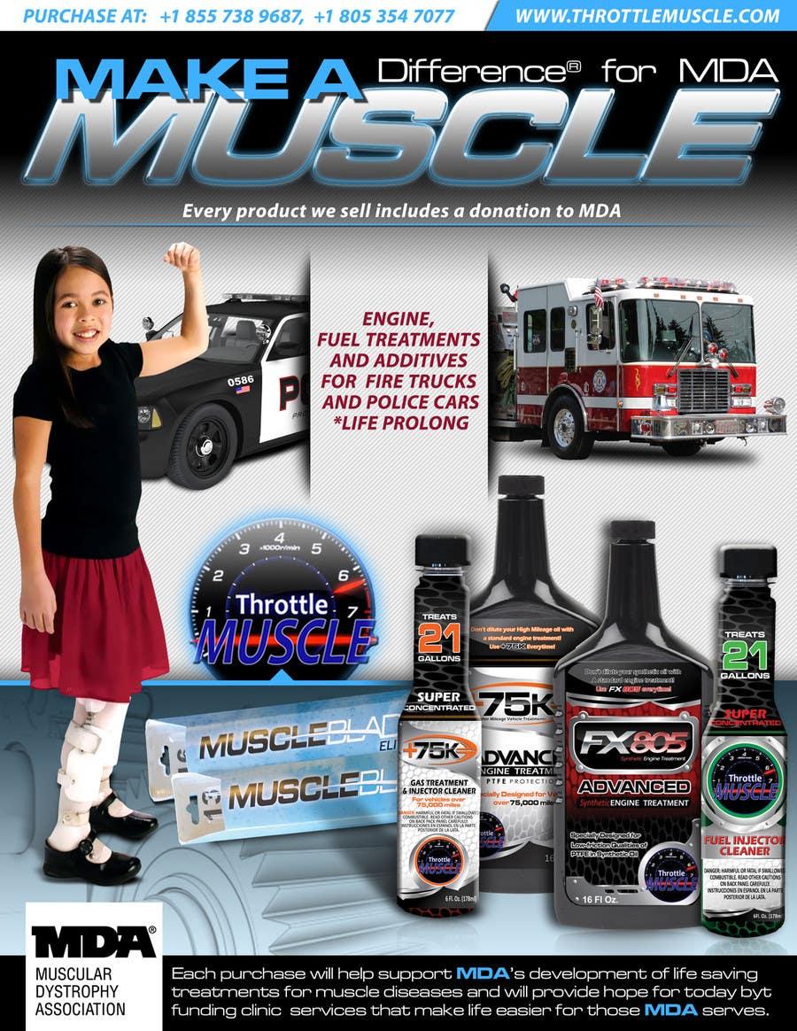 Penyertaan Peraduan #                                        25                                      untuk                                         Advertisement Design for Throttle Muscle