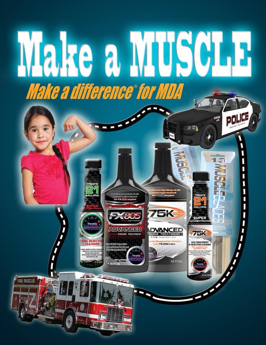 Penyertaan Peraduan #                                        46                                      untuk                                         Advertisement Design for Throttle Muscle