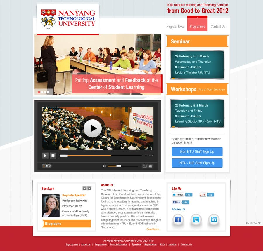 """#27 for Website Design for Seminar: """"Putting Assessment and Feedback at the Center of Student Learning"""" by iNoesis"""