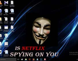 Nro 14 kilpailuun Create an image of Netflix spying users käyttäjältä MuhammadMatin