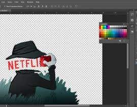 Nro 1 kilpailuun Create an image of Netflix spying users käyttäjältä bogdanciorba