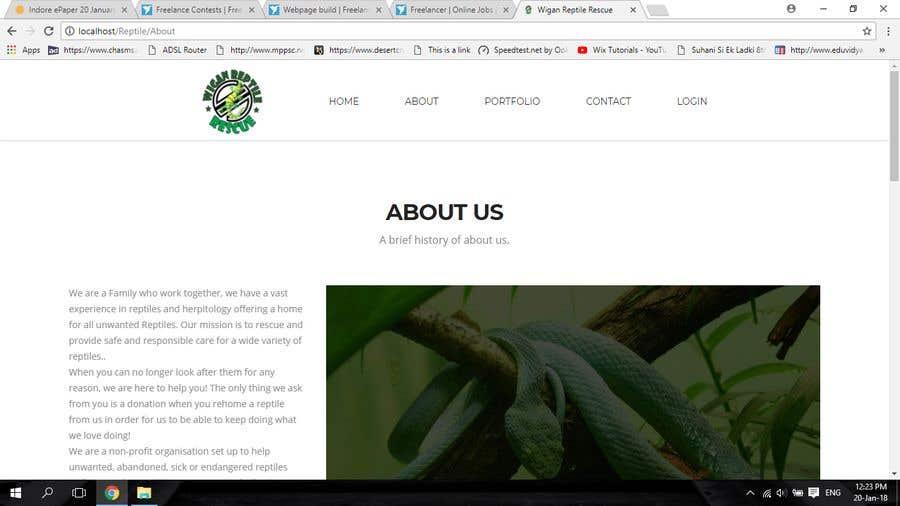 Penyertaan Peraduan #3 untuk Design a Website Mockup