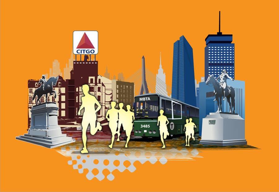 Конкурсная заявка №7 для Illustration Design for Generic Runners in Boston