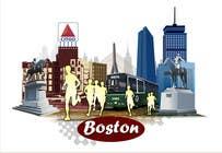 Bài tham dự #8 về Graphic Design cho cuộc thi Illustration Design for Generic Runners in Boston