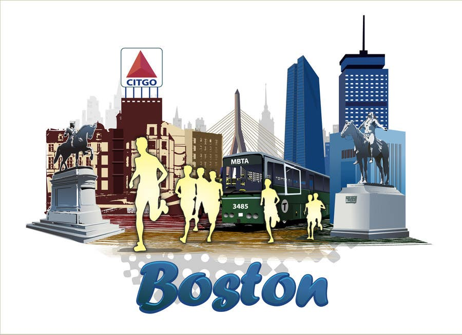 Конкурсная заявка №12 для Illustration Design for Generic Runners in Boston