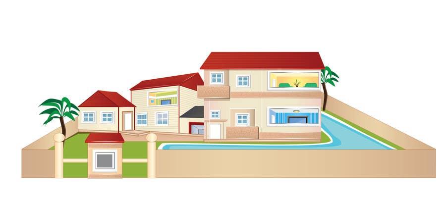 Inscrição nº 14 do Concurso para Illustration Design for Technology in a residential facility