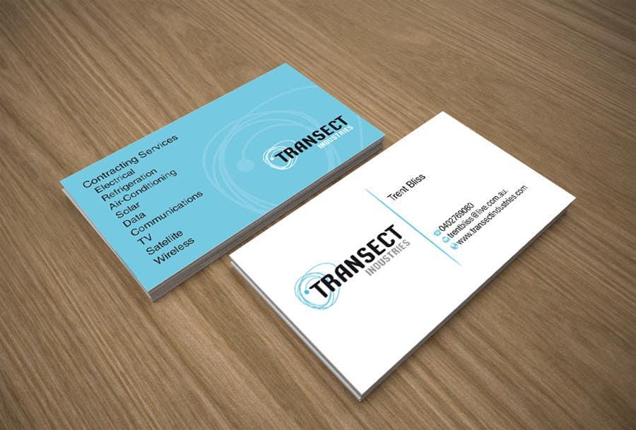 Конкурсная заявка №54 для Business Card Design for Transect Industries