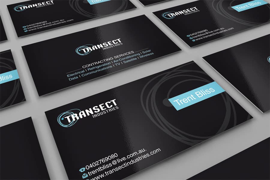 #61 for Business Card Design for Transect Industries by midget