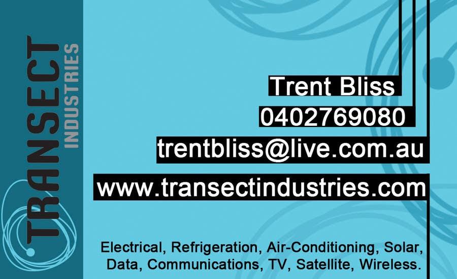 Конкурсная заявка №14 для Business Card Design for Transect Industries