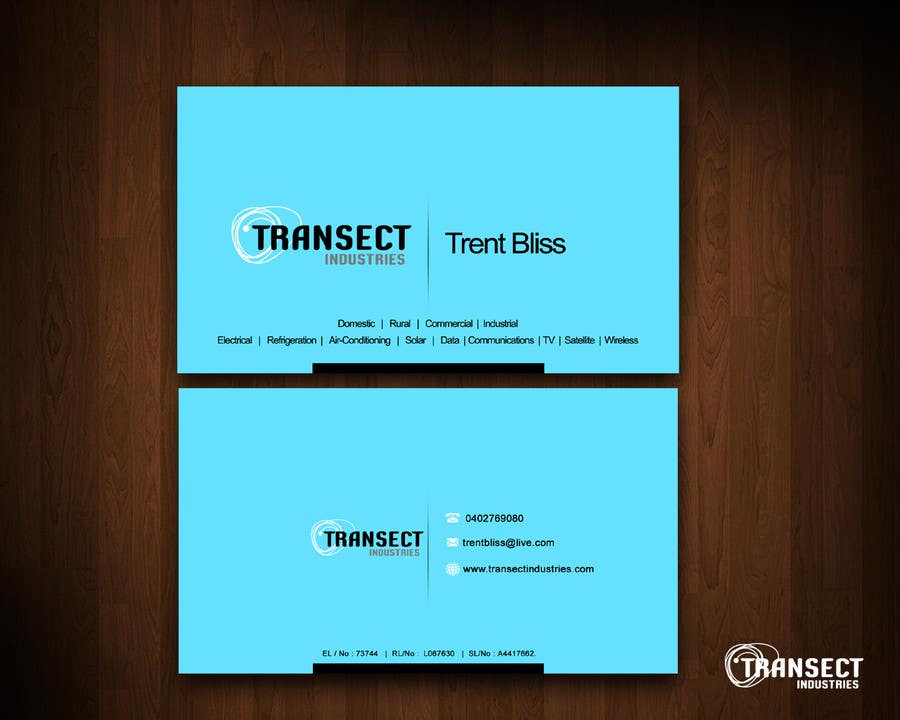 #60 for Business Card Design for Transect Industries by vigneshsmart