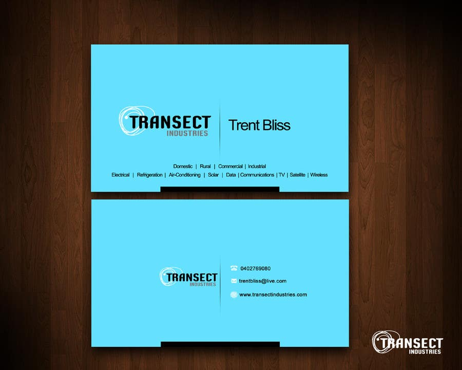 #29 for Business Card Design for Transect Industries by vigneshsmart