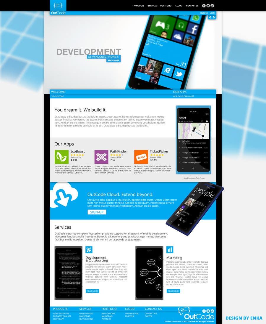 #12 for Website Design for OutCode by Enka