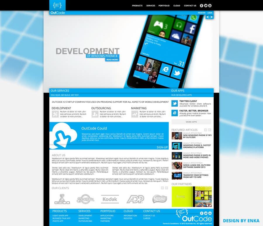 #8 for Website Design for OutCode by Enka