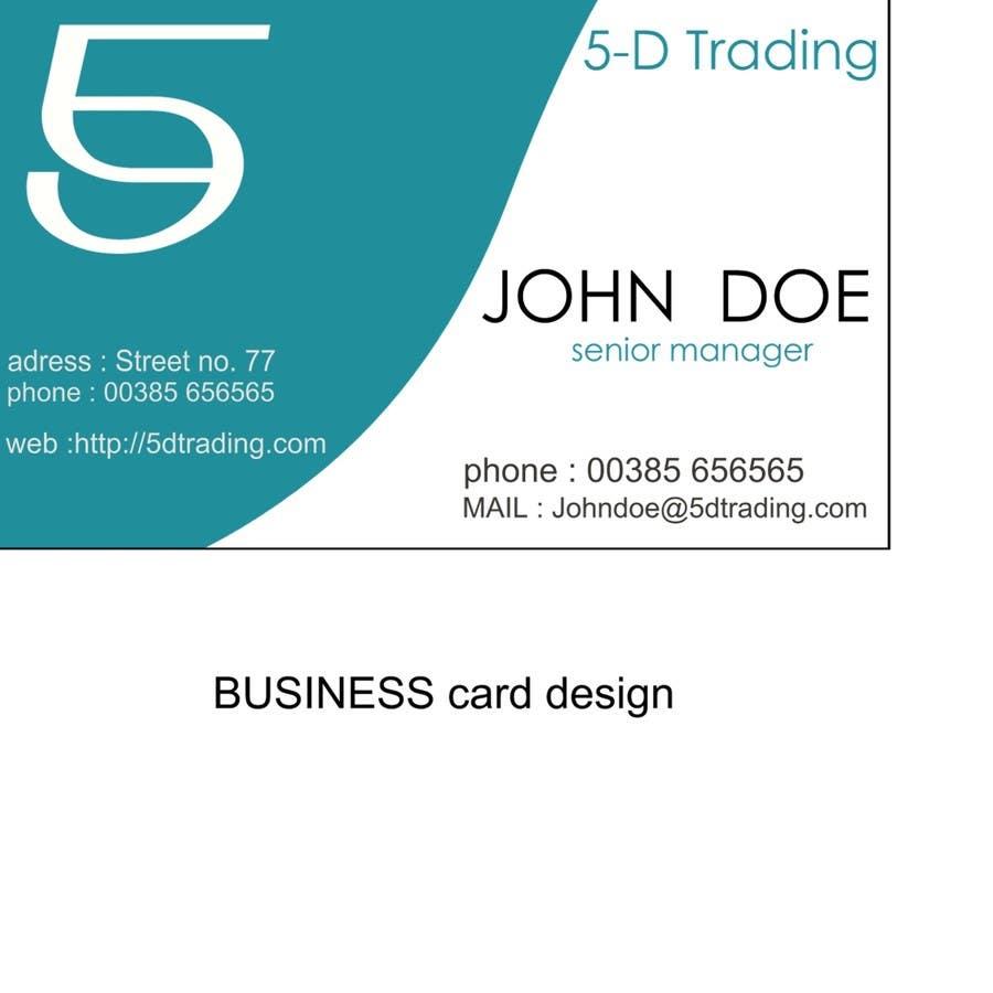 Конкурсная заявка №11 для Corporate Identity for 5-D Trading Ltd
