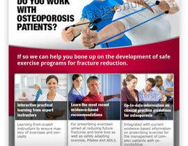 #16 pentru Poster Design for Osteoporosis Canada- Bone Fit Program de către fecodi