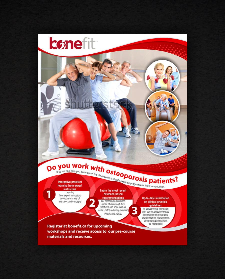 Конкурсная заявка №48 для Poster Design for Osteoporosis Canada- Bone Fit Program