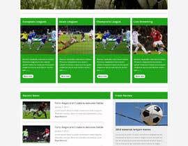 #5 cho Homepage Mockup for a football affiliate betting site bởi negibheji