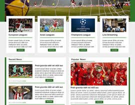 #14 cho Homepage Mockup for a football affiliate betting site bởi janakgfxdesign