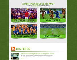 #11 cho Homepage Mockup for a football affiliate betting site bởi manfredinfotech