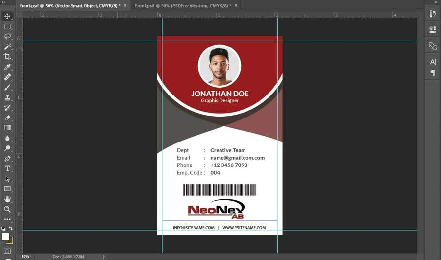 Contest Entry 54 For Plastic Company ID Card With Photo Design