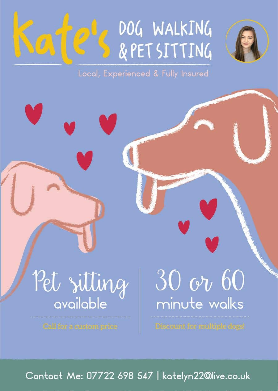 Entry 38 By Leticialopesf For Design My Dog Walking Flyer Freelancer