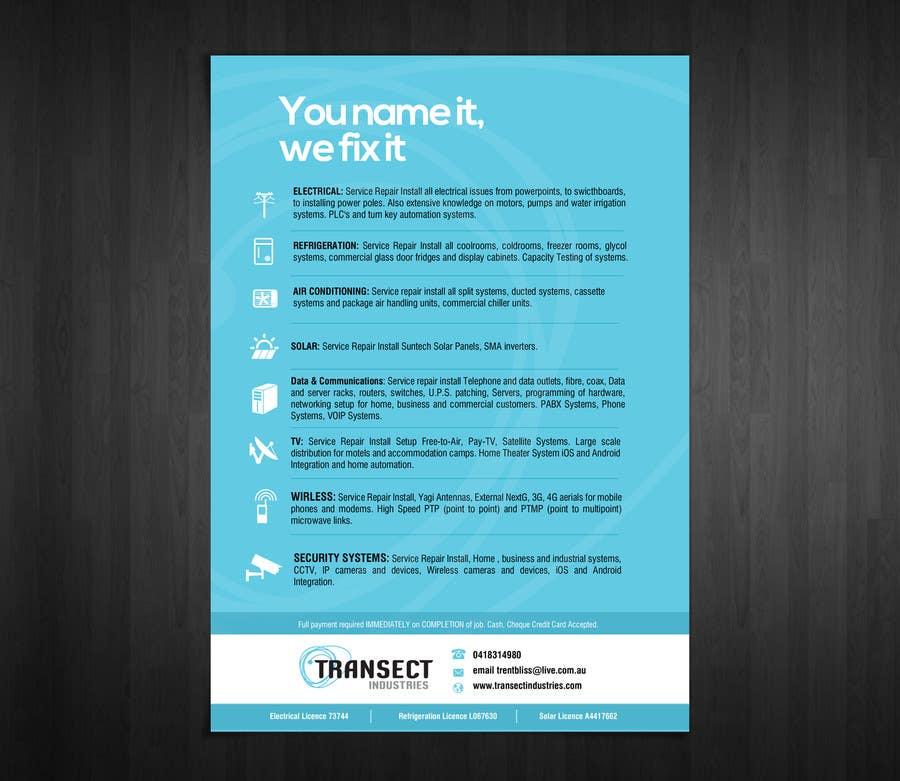 Конкурсная заявка №9 для Flyer Design for Transect Industries