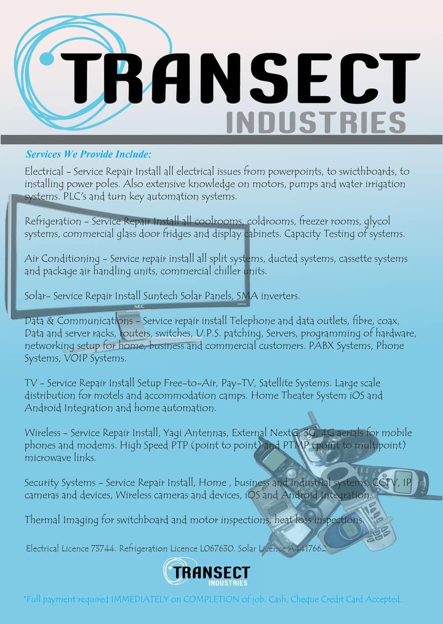 Inscrição nº                                         13                                      do Concurso para                                         Flyer Design for Transect Industries