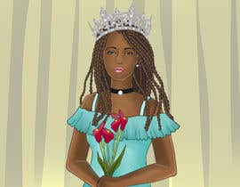 #9 for Black Woman Illustration With Braids Wearing A Crown by robertussidharta