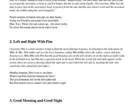 #5 untuk Concept and Lyrics Writer Required for Nursery Rhymes oleh MariusAlza9