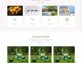 nº 37 pour Design homepage for website garden center par almasrorpartho