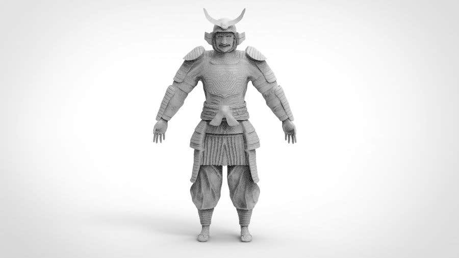 entry 14 by sihagarts for 3d model samurai character 3d
