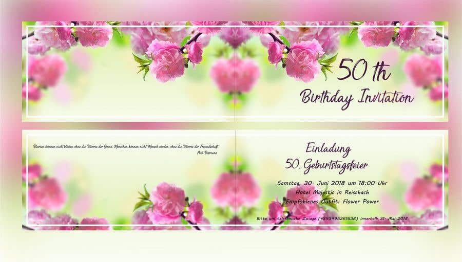 Entry 23 By Conceptgraphic For Design A Birthday Invitation